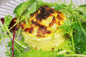 彩り野菜と鈴木養鶏場さんの卵のフリッタータ